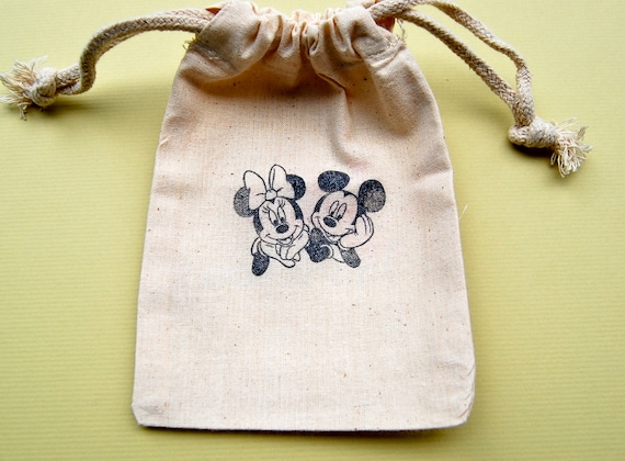 Mickey and Minnie Favor Bags / Set of 10 / Perfect for Birthday Parties