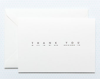 Thank You - Morse Code - Letterpress card