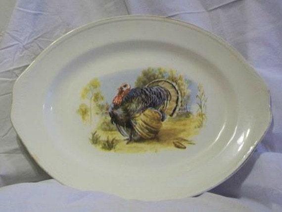 Homer Laughlin Turkey Platter-Made in USA