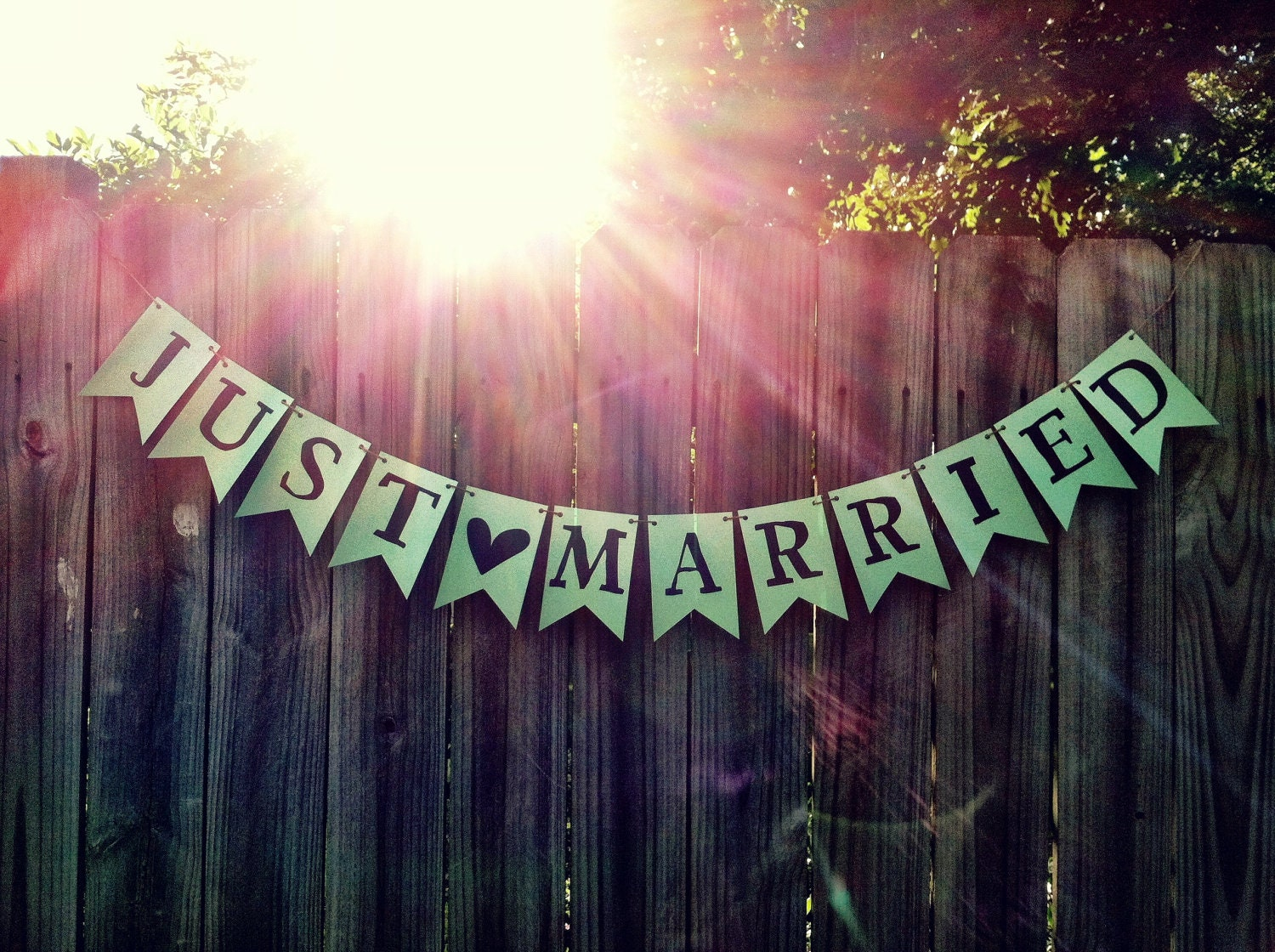 printable just married pennant flag banner garland