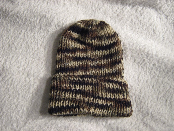Shades Of Brown Knit Hat