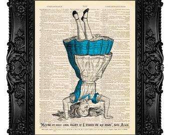 Alice in Wonderland Quote Art Print Alice in Wonderland DIctionary Art Print Vintage Alice Wall Art Print Alice in Wonderland Poster 173