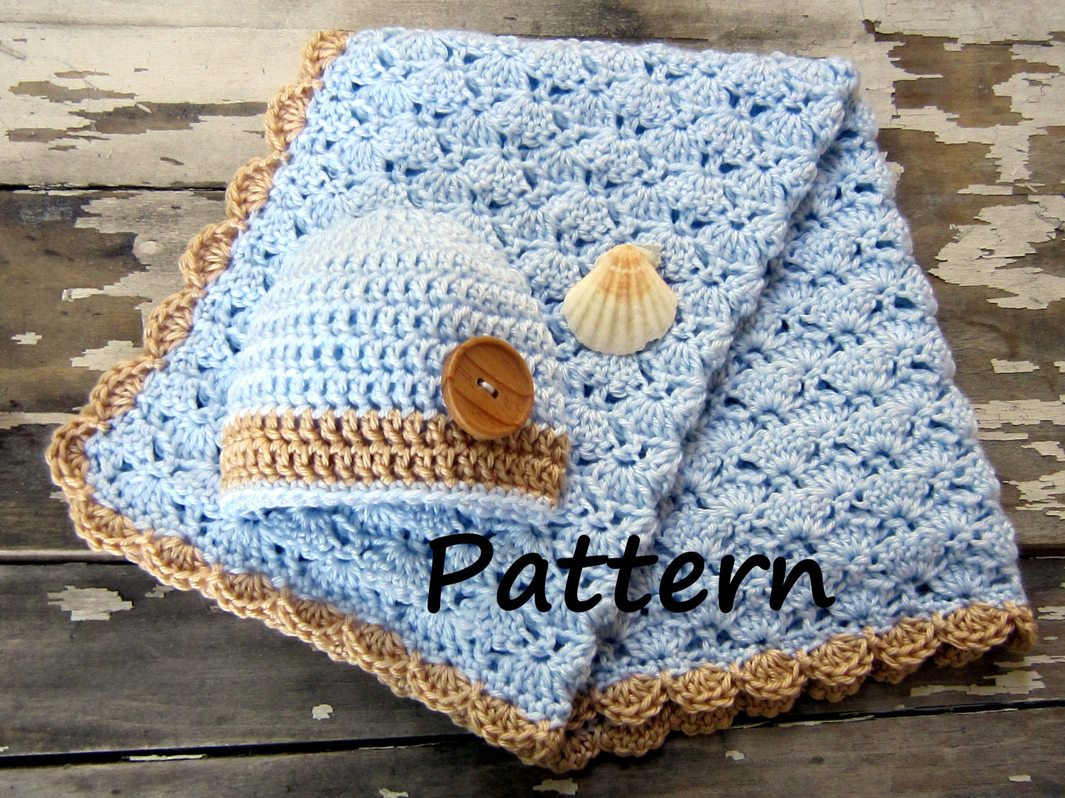 Free Crochet Patterns For Baby Hats And Blankets : Items similar to Crochet Baby Blanket Pattern - Baby ...
