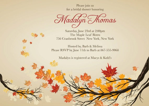 Fall Themed Invitations as great invitations sample