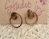 Handmade formed wire hoop earrings great for little girls