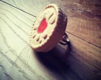 Jammy Dodger  adjustable ring
