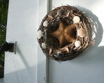 Starfish and Shell Wreath