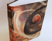 Handbound Journal Charcoal Abstract Art Cover