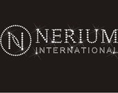 Nerium Clear Rhinestone Hot Fix Transfer Logo