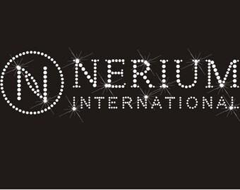 Nerium Clear Rhinestone Hot Fix Transfer Logo