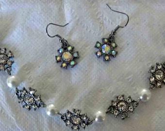 Crystal Bracelet and Earring Set