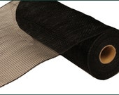 "Black - Deco Poly Mesh 10"" x 10 yards (non-laser)"