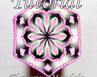 Polymer Clay Cane Tutorial - TUTORIAL - The Original Flowering Mandala Cane