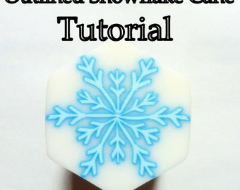 Polymer Clay Cane Tutorial - TUTORIAL - Outlined / Ghost Snowflake Cane