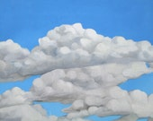 Big Puffy Cloud Painting