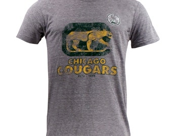 UGP Classics - Chicago Cougars - WHA - Unisex T Shirt - Athletic Gray