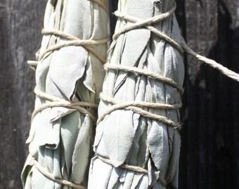 California organic dried sage smudge