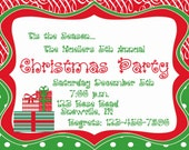 Christmas invitation printable