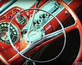 BelAir Wheel - Rustic Wall Art - Classic Car Art Prints - Retro Print - Vintage Car Photography - Garage Art