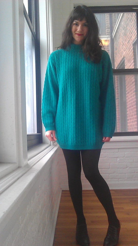 1980s Benetton Oversized Sweater / Sweater by LittleSusieVintage