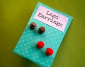 2 Sets of Lego Earrings- Pick your Colors