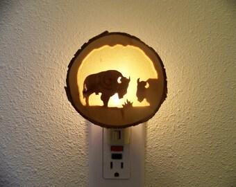 Two buffalo nightlight