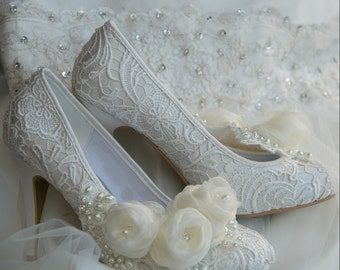 low heel wedding shoes – Etsy