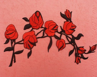 Iron on Applique, Embroidered Patch , flower series