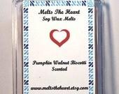 Soy Wax Tarts Melts  Pumpkin Walnut Biscotti  Clamshell 3 Ounces