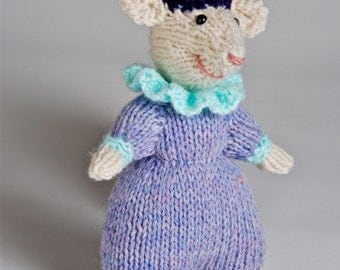 Handmade knitted plush Clown Mouse made to order and customizable