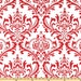 Lipstick Traditions Red on White Home Decor Fabric - LAST Yard - Premier Prints Fabric