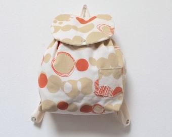Baby backpack, Diaper Backpack, organic, orange