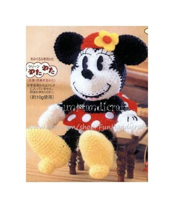 Disney Minnie Mouse Amigurumi Pattern E-book in by ...