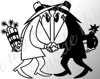 Spy vs Spy Sticker