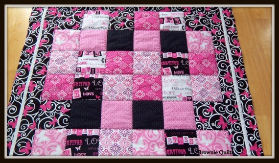 Ribbons Of Hope Quilt Breast Cancer Awareness