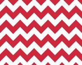 1 yd Riley Blake Red Medium Chevron