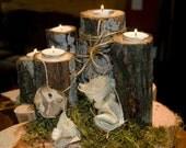 Rustic Wedding Centerpiece, cheap wedding centerpiece, rustic wood centerpiece, Candle Centerpiece, fall decor, wedding decor