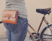 Commuter Leather Hip Pouch - BiciCouture