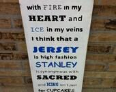 Ice Hockey Wall Art Hockey Fan Sign Jersey Stanley Icing