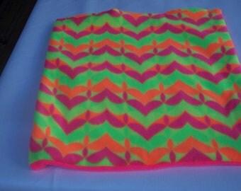 Kitty Blanket Cat Bed Catnip Mat Catnip Filled Mat Cat Play Mat Cat Bed Fleece Hot Pink Florescent Hearts