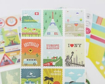 Daily Deco Stickers- Travel  - 12 Sheets