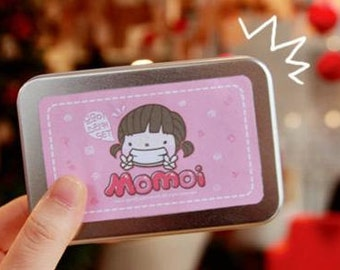 Korea Momoi Sticker Set - Tin Case - 20 sheets