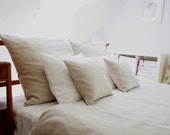 Linen  Bedding - Queen , Natural (6pcs) - wedding gift - MoodsStore