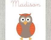 Owl Name Print