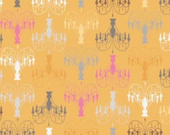Fabric Daisy Cottage 'Chandelier' Yellow by Sheri Berry Riley Blake Designs HALF YARD