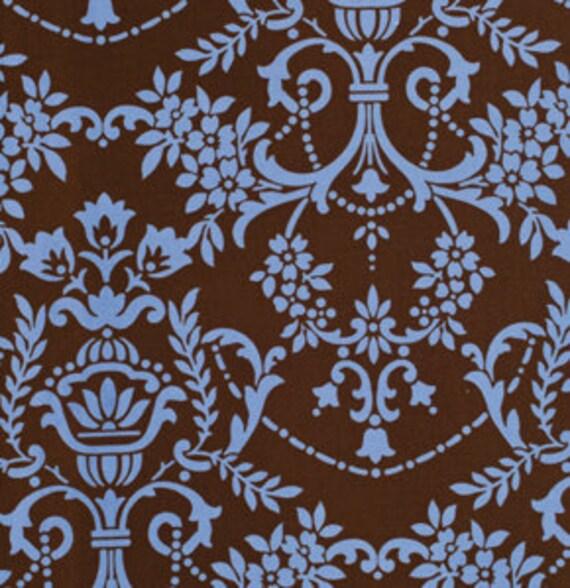 Crazy Love Fabric 'Natasha' Brown Jennifer Paganelli for Free Spirit Fabric 47 inches