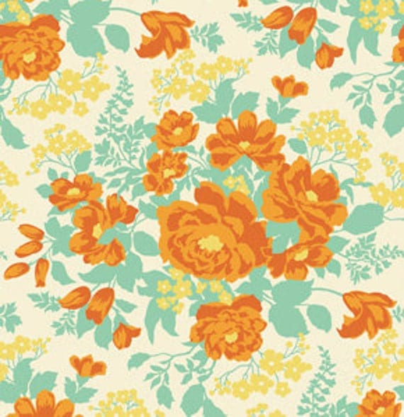 Fabric Heirloom 'Rose Bouquet' Amber by Joel Dewberry