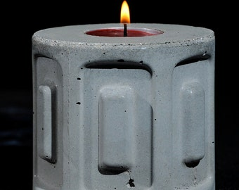 Cement Candle Holder, Future Relic #1