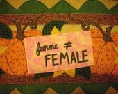 femme not female patch