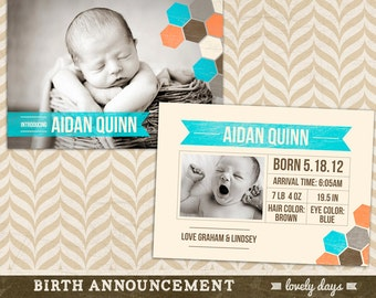 Birth announcement template for photographers INSTANT DOWNLOAD